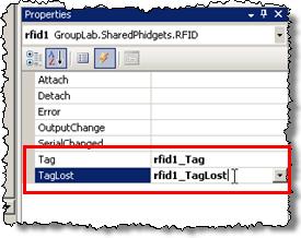 iLab Cookbook - Shared Phidgets Simple Example Using The RFID Reader